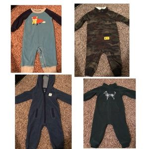 12 Months Boys Fleece Footsies